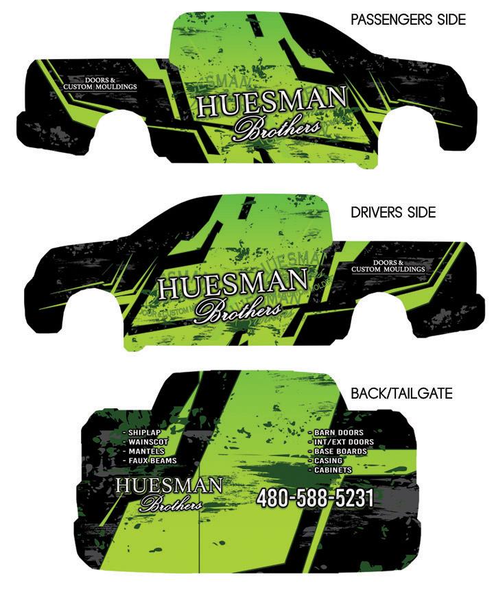 Vehicle Wrap Design printed sized file