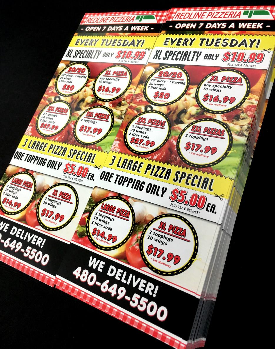 final print uv coating pizza design flyers