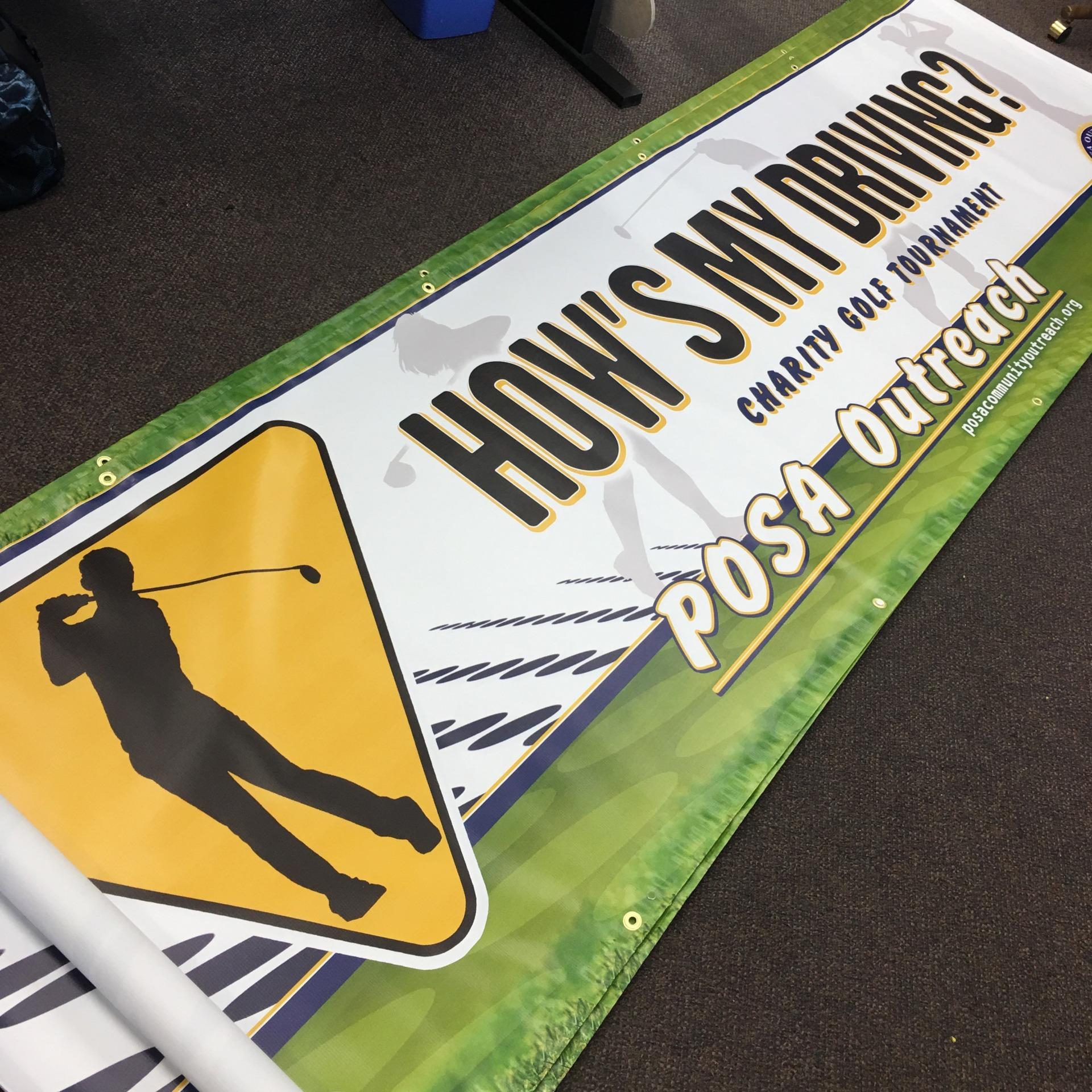 Large digital printed banner