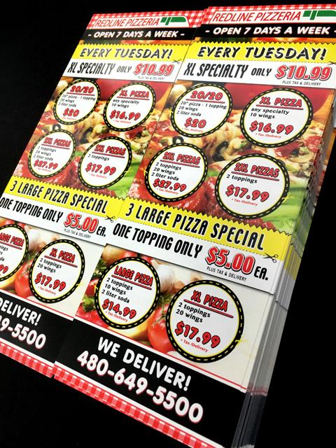 pizza flyer design make over custom image pros llc
