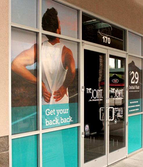 Joint Chiropractic Window Design Custom Image Pros Llc