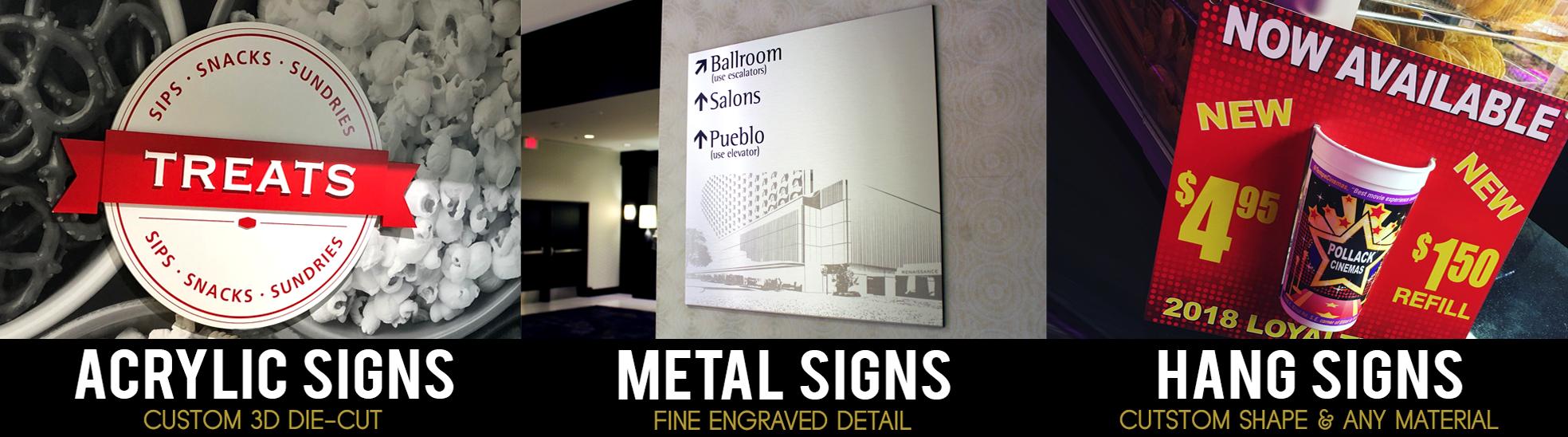 indoor sign company Phoenix Arizona