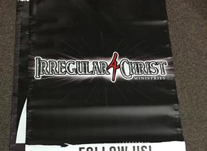 Irregular 4 Christ Banner Design and Prints