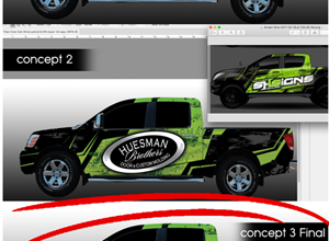 Huesman Truck Wrap Design and Install
