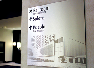 Engraved Aluminum Sign Perfection
