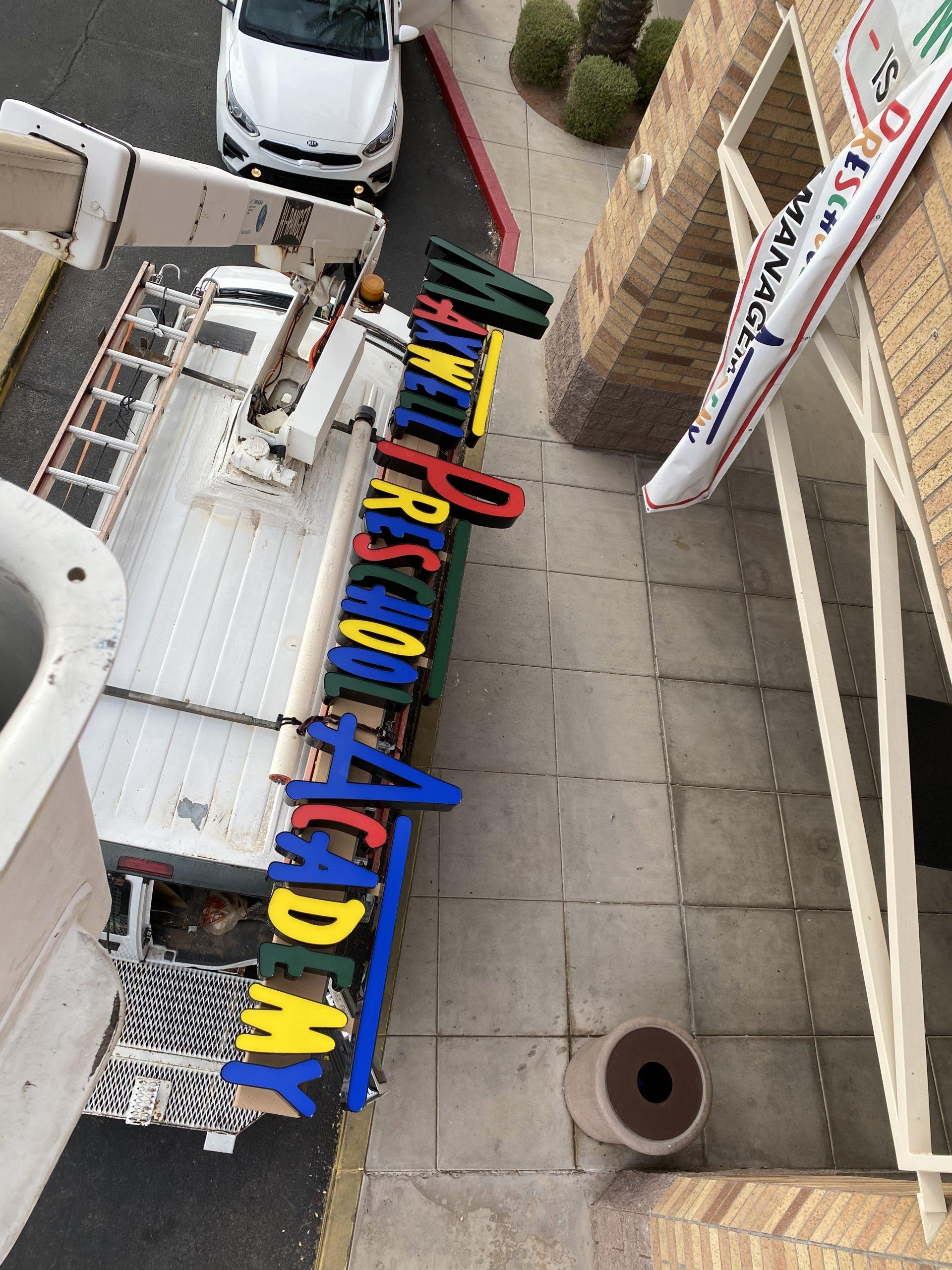 Preschool Pan Channel Sign